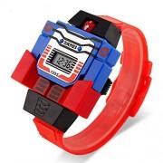 Sebami Deportes Reloj Digital Pantalla LED niños Relojes Robot, Creativo Reloj electrónico Desmontable para niños, diseño de Superman se transforma en Robot Extensible de Caucho