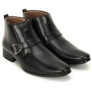 Crown Sapphire High Ankle Slip On Formal Boots For Men (Black 6 UK)