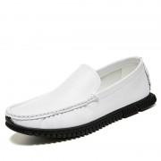 Ronde hoofd effen kleur comfortabele en draagbare Casual schoenen voor mannen (kleur: wit grootte: 45)