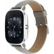 "Smartwatch Asus ZenWatch 2 WI502Q, Procesor Quad-Core 1.2GHz, Amoled Curbat 1.45"", 512MB RAM, 4GB Flash, Bluetooth, Bratara piele, Rezistent la apa si praf (Argintiu/Crem)"