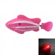 Flash ROBO flash electrico Pet Fish juguete - rosa + blanco + rojo
