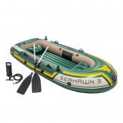 Bote hinchable Intex Seahawk 3 con remos y bomba 68380NP