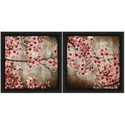 PTM Images 6 - 5332 un Marco de 1-Unit Cherry Blossom, 14 por 14-Inch, Negro, Juego de 2
