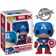 Pop! Vinyl Figura Funko Pop! Capitán América Bobble-Head - Marvel