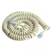 Cablu receptor spiralat 2m alb