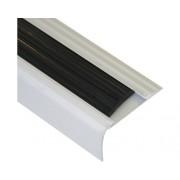 Protectie treapta din aluminiu cu insertie din PVC argintiu/negru ATIL485.81/16