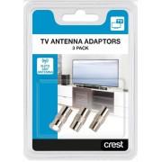 Coaxial TV Antenna Adaptors Pack Of 3