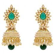 Jewels Gehna Studded Pearls Beads Contemporary Fashion Designer Jhumka Jhumki Earring Set For Women Girls