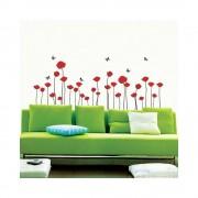 Ambiance Sada nástěnných samolepek Ambiance Red Poppy Flowers