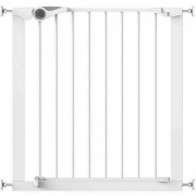 Poarta de siguranta Noma Easy Fit, presiune, 75-82 cm, metal alb