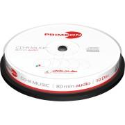PRIM 2761111 - CD-R 80Min/AUDIO, 10-er Cakebox
