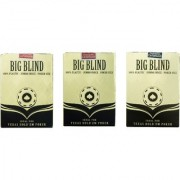 Parksons Big Blind 100 Plastic Jumbo Index Poker Size Playing Cards-(Multicolour) - Pack of 3