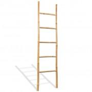 vidaXL Držač za Ručnike s 5 Prečki od Bambusa 150 cm