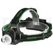 Lanterna frontala,cu acumulat., unghi luminos reglabil HL500B 5 W, 500 lm, 5 h, 3,7 V, 1500 mAh 18650 Li-Po