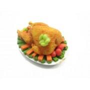 Dolls House Miniatures Thanksgiving Food 3.5cm Turkey Chicken Steak 10651