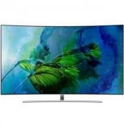 Телевизор Samsung 65Q8CAM, 65 инча, 4K QLED CURVED, SMART, Quad-Core, Wireless, Сребрист, QE65Q8CAMTXXH