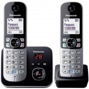 Telefono Inalámbrico PANASONIC KX-TG6822 Negro/1 Extension