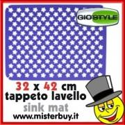 TAPPETO LAVELLO RIFLORI 32 x 42 cm GIOSTYLE BLU