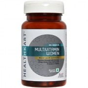 Healthkart Multivitamin women with Ginseng extract Ginkgo biloba Lycopene and soya isoflavones and Multimineral Improves focus alertness immunity and overhealth - for women 60 tablets