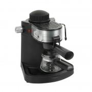 Espressor cafea Hausberg, 650 W, 3.5 Bar, 4 cesti, Negru/Argintiu