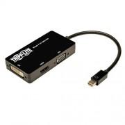 Tripp Lite Mini DisplayPort a VGA / DVI / HDMI Convertidor Todo-en-Uno Adaptador de Video para Mac y PC M/H, 15 cm (P137-06N-HDV)