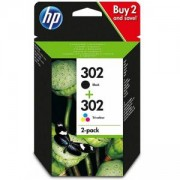 Консуматив HP 302 Combo 2-Pack Original Ink Cartridge; Black/Tri-color; Page Yield 190/165; HP DeskJet 1110; HP OfficeJet 3830; 2130; 4520;