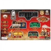 Estycal Multicolored Classical Battery Operated Radio Control Smoke Train set - 21 pcs