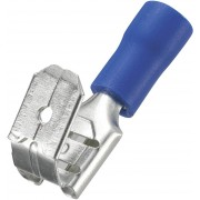 Papuc plat mamă cu vârf întors, secţiune: 1,5 - 2,5 mm², albastru, AWG 16 - 14, 6,4 x 0,8 mm, 50 bucăţi