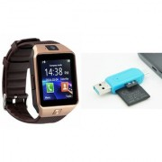 Zemini DZ09 Smart Watch and Card Reader for SAMSUNG GALAXY ON 5(DZ09 Smart Watch With 4G Sim Card Memory Card| Card Reader Mobile Card Reader)