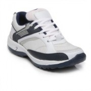 TEN White::Blue Mesh Sports Shoes Badminton Shoes For Men(White)