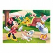 Puzzle - Minnie la plimbare 100 piese XL