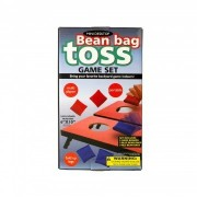 Bean Bag Toss Corn Hole Tabletop Game (Two Game Boards with Fold Up Legs, 3 Each of Red and Blue Bags)