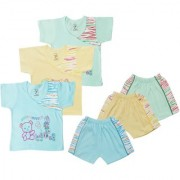 Jo kids wear Baby Boy Cotton Dress Set (Top and Shorts) Multi Color Set of 3 (1009)