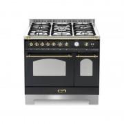 Lofra Rnmd96mfte/ci Nero Matt 90x60 Cucina Con Piano In Acciaio Satinato - 5 Fuochi A Gas Di Cui 1 Tripla Corona - 2 Forni (For