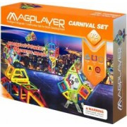 Set de constructie magnetic MAGPLAYER 72 piese varsta recomandata 3 - 10 ani Multicolor