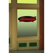 8815 Model Budweiser Beer Animated Lighted Window Sign by Miller Signs
