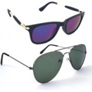 Fash-On India Aviator Sunglasses(Multicolor, Green)