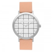Christian Paul - Airlie Grid 43 MM - Silver / Nude