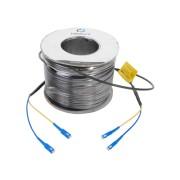 Carrete de 100metros fibra óptica c/conectores SC-SC Dúplex