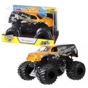 "Hot Wheels Year 2013 Monster Jam 1:24 Scale Die Cast Official Monster Truck Series Joe Sylvester Rigid Industries Led Lighting Xd Series Bad Habit (Bgh43) With Monster Tires, Working Suspension And 4 Wheel Steering (Dimension 7"" L X 5 1/2"" W X 4 1/2"" H)"