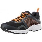Reebok Men's Smooth Flyer 2.0 Black, Grey, Orange and White Running Shoes - 6 UK
