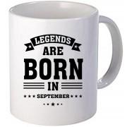 "Cana personalizata ""Legends are born in September"""