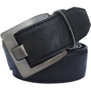 Sunshopping men's black leatherite needle pin buckle belt (PSD-TB-YES)