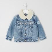 River Island Baby Boys Blue Prolific borg denim jacket (3-6 Mths)