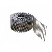 Pointes 16° 3.1x90 mm crantées en rouleaux plats fil métal X 4500