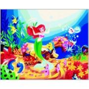 Tablou pictura pe numere pentru copii Printesa Ariel 40 x 50 cm