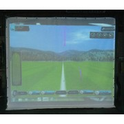 Golfsimulator Optishot 2 + Projektionsduk 3 x 3 meter