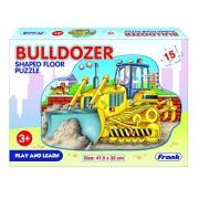 FRANK Bulldozer Shaped Floor Puzzles (15 PC Puzzle)