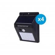 Pack 4 Foco solar 20 Led con sensor de movimiento Gonline