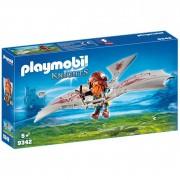 Playmobil knights guerriero con deltaplano da attacco